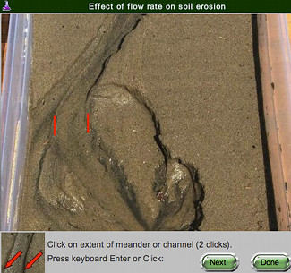 screen shot of Erosion and Flow real online lab